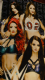 WWE Wrestling Total Divas character beach towel.